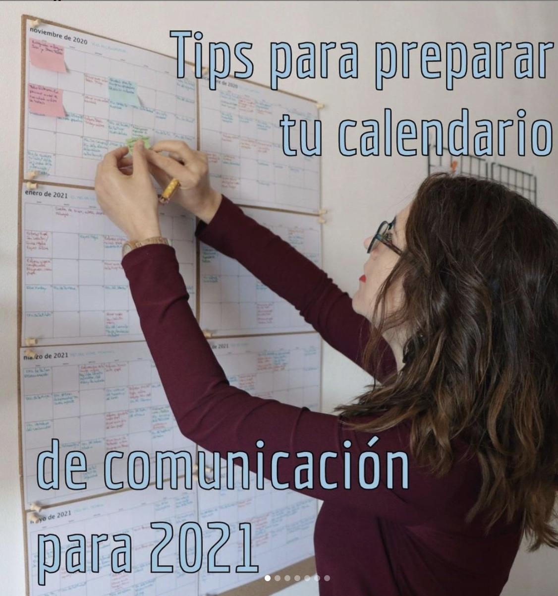 calendario de comunicacion